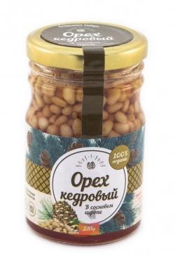 Кедровые орехи в сосновом сиропе, 220 г, Солнечная Сибирь