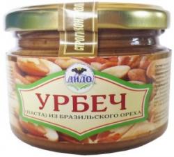Урбеч из бразильского ореха, 250 г, ДИДО