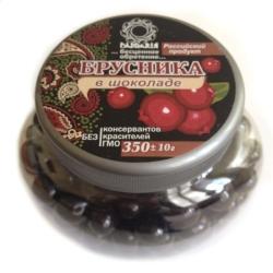Брусника в шоколаде, 350 гр, Ладдария