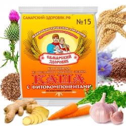 Каша Самарский Здоровяк №15, пшеничная с имбирем и чесноком, 240 гр