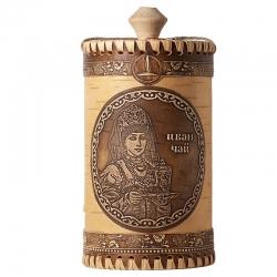 Иван-чай черный листовой, лимитированная серия Боярышня, в туеске, 40 гр, Емельяновская биофабрика