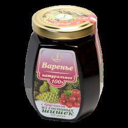 Варенье из сосновых шишек с брусникой, 250 гр, Емельяновская биофабрика