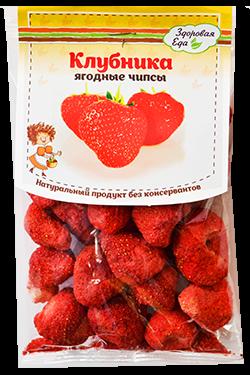 Чипсы клубника, 20 гр, Здоровая еда