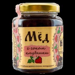 Мёд натуральный с соком клубники, 250 гр, Сибирский Знахарь