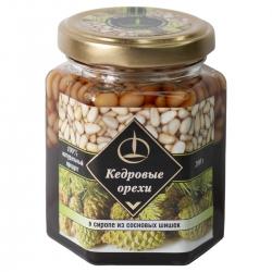 Кедровый орех в сиропе из сосновых шишек, 200 гр, Емельяновская биофабрика