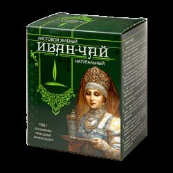 Иван-чай листовой зеленый, серия Боярышня, 100 гр, Емельяновская биофабрика