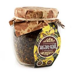 Сибирский Иван-Чай листовой с облепихой, 100 г, банка