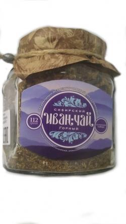 """Сибирский Иван-Чай """"Горный"""" двойной ферментации, 112 г, банка"""
