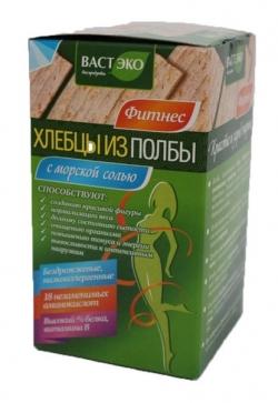 Хлебцы из полбы ломтики с морской солью, 100 гр