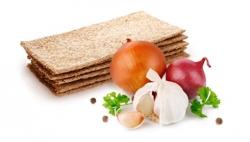 Хлебцы Эко-Хлеб, с луком, чесноком и зеленью 120 гр, Крым