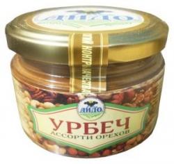 Урбеч из ассорти орехов, 250 г, ДИДО