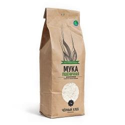 Мука пшеничная цельнозерновая БИО, 1 кг, Черный Хлеб