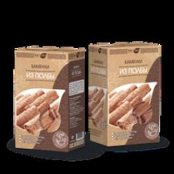 Бамбуки из полбы с шоколадом, 200 гр, Вастэко