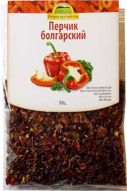 Паприка сушеная красная, 50 гр, Здоровая еда