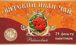 Вятский Иван-Чай с рябиной красной, 25 фильтр-пакетов, 50 г