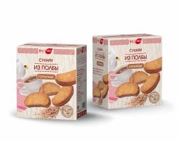 Сухари из ПОЛБЫ горчичные, 170 гр