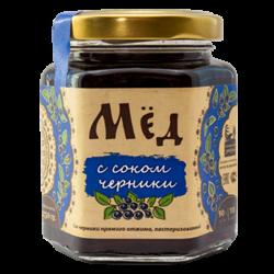 Мёд натуральный с соком черники, 250 гр, Сибирский Знахарь