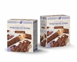Трубочки из ПОЛБЫ с шоколадом, 150 гр